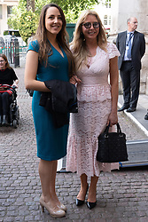 © Licensed to London News Pictures. 15/06/2018. London, UK. Katie Vorderman and Carole Vorderman attends the memorial service for Professor Stephen Hawkin at Westminster Abbey. Photo credit: Ray Tang/LNP