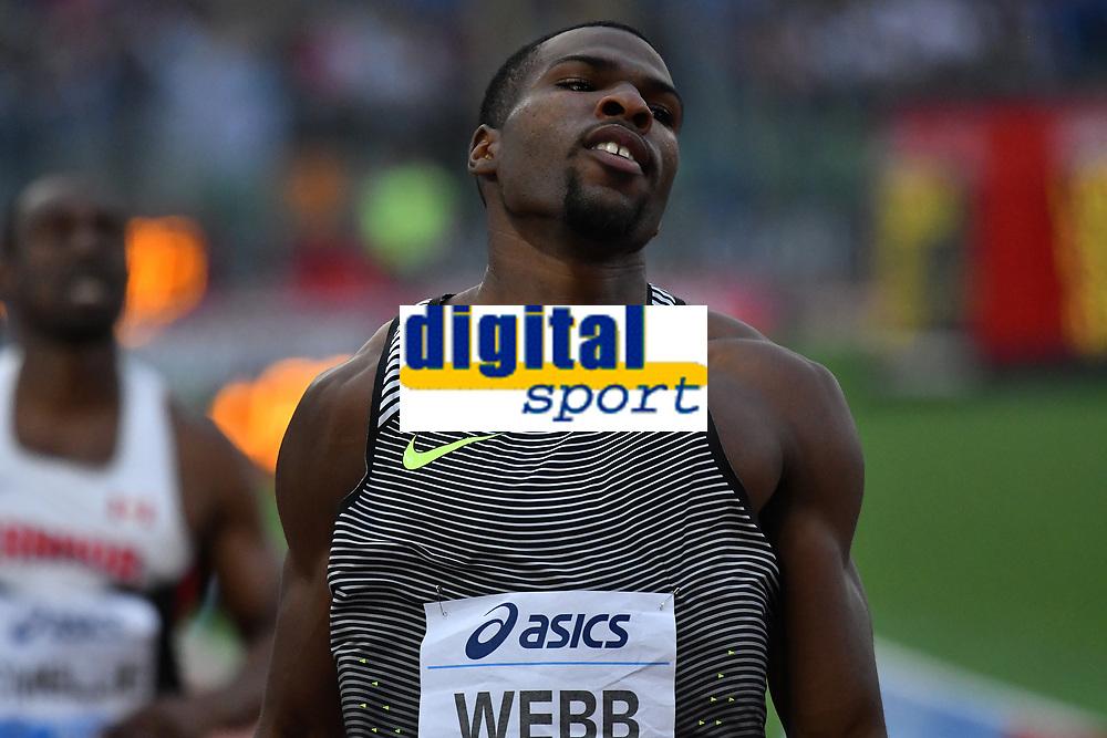 Ameer WEBB USA 200m Men winner <br /> Roma 03-06-2016 Stadio Olimpico <br /> IAAF Diamond League Golden Gala <br /> Atletica Leggera<br /> Foto Andrea Staccioli / Insidefoto