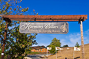 Entrance sign at Harmony Cellars, Harmony, California
