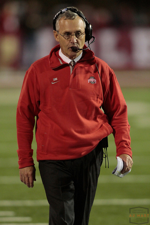 03 October 2009: Ohio State coach Jim Tressel as the Indiana Hoosiers played the Ohio State Buckeyes in a college football game in Bloomington, Ind.