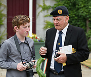 08/07/2018  repro  free:  Roan Downes, Kinvara with ex service man Mick Ward at the National Day of Commemoration Ceremony at NUI Galway in honour of all those Irishmen and Irish Women who served in pas wars or on service with the UN.Photo:Andrew Downes, XPOSURE
