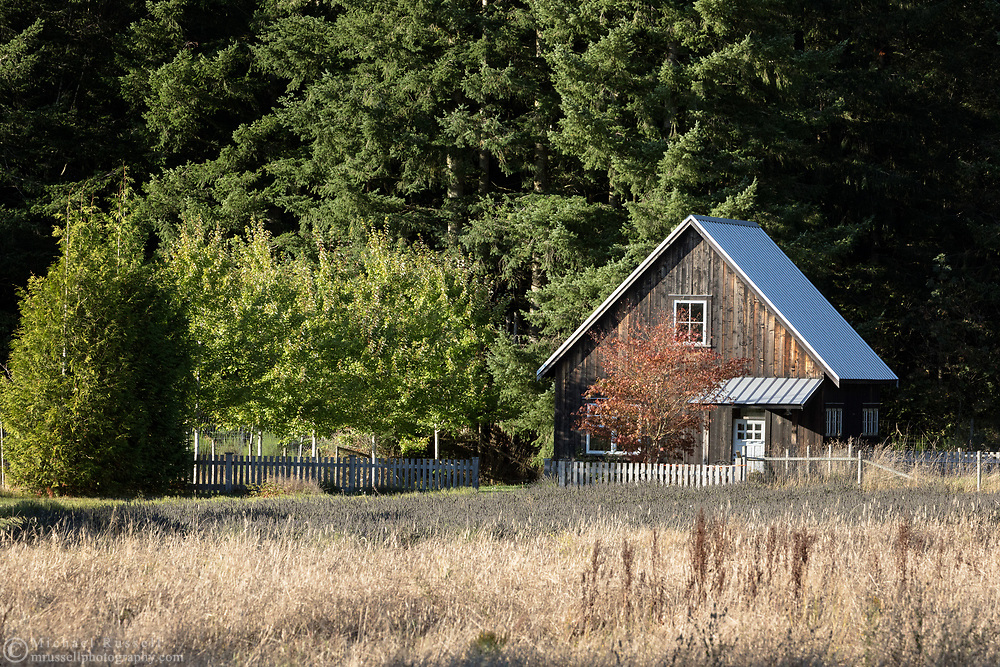 A building on the Windward Lavender Farm in Columbia Valley, British Columbia, Canada.