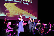 NORTHRIDGE, CA - DECEMBER 01: Eden Espinosa, George Bugatti, Karon Blackwell and Joe Bwarie perform at The Wonderful Wizard Of Song at The Soraya on December 1, 2018 in Northridge, California. (Photo by Amy Graves/Getty Images for Wonderful Wizard LLC) *** Local Caption *** Eden Espinosa;George Bugatti;Karon Blackwell;Joe Bwarie