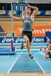 Owen Beuckens in action on the 60 meters during limit matches to be held simultaneously with the Dutch Athletics Championships on 13 February 2021 in Apeldoorn