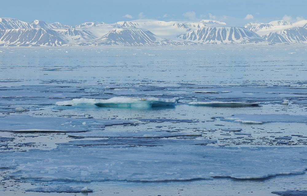 Actic landscape, Svalbard, Norway
