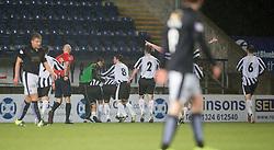 Fraserburgh's Marc Lawrence cele scoring their goal. <br /> Falkirk 4 v 1 Fraserburgh, Scottish Cup third round, played 28/11/2015 at The Falkirk Stadium.