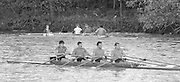London, Great Britain.<br /> Notts County Rowing Association. NCRA. Bow. Jon CLIFT, Simon LARKIN,  An OTHER and Carl SMITH<br /> 1986 Fours Head of the River Race, Reverse Championship Course Mortlake to Putney. River Thames. Saturday, 15.11.1986<br /> <br /> [Mandatory Credit: Peter SPURRIER;Intersport images] 15.11.1986