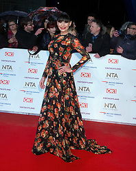 Lucy Pargeter, Kate Silverton, attend the National TV Awards Red Carpet Arrivals at the 02 Arena in London, 22 January 2018.<br />