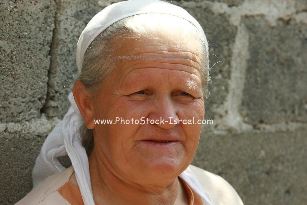 Albania Portrait of a mature Albanian woman