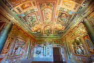 . internal frescoes & decorations by Livio Agresti from Forlì (1550 to 1572) .<br /> <br /> Visit our ITALY PHOTO COLLECTION for more   photos of Italy to download or buy as prints https://funkystock.photoshelter.com/gallery-collection/2b-Pictures-Images-of-Italy-Photos-of-Italian-Historic-Landmark-Sites/C0000qxA2zGFjd_k<br /> If you prefer to buy from our ALAMY PHOTO LIBRARY  Collection visit : https://www.alamy.com/portfolio/paul-williams-funkystock/villa-este-tivoli.html