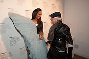 APPHIA MICHAEL; NICKY HASLAM, Wallpaper* Design Awards. Wilkinson Gallery, 50-58 Vyner Street, London E2, 14 January 2010 *** Local Caption *** -DO NOT ARCHIVE-© Copyright Photograph by Dafydd Jones. 248 Clapham Rd. London SW9 0PZ. Tel 0207 820 0771. www.dafjones.com.<br /> APPHIA MICHAEL; NICKY HASLAM, Wallpaper* Design Awards. Wilkinson Gallery, 50-58 Vyner Street, London E2, 14 January 2010