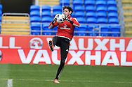Danny Ward, the Wales goalkeeper expected to make his debut in one of the friendly fixtures in action during the Wales football team training at the Cardiff City Stadium in Cardiff, South Wales on Wed 23rd March 2016. The team are preparing for their forthcoming friendly against Northern Ireland.<br /> pic by  Andrew Orchard, Andrew Orchard sports photography.