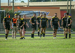 May 26, 2018 - Houston, TX, U.S. - HOUSTON, TX - MAY 26:  Houston SaberCats wait for the scrum during the Major League Rugby match between the Utah Warriors and Houston SaberCats on May 26, 2018 at Dyer Stadium in Houston, Texas.  (Photo by Leslie Plaza Johnson/Icon Sportswire) (Credit Image: © Leslie Plaza Johnson/Icon SMI via ZUMA Press)