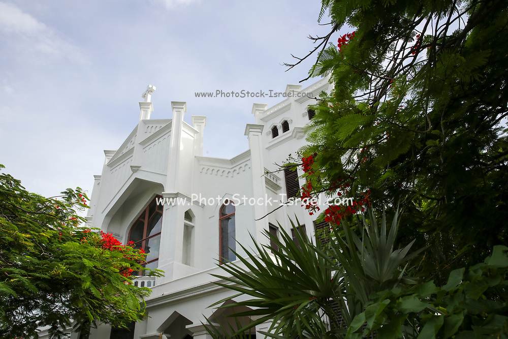 Exterior of the St Paul's Episcopal Church in Key West, Florida Keys, Florida, USA