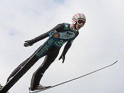 27.09.2014, Energie AG Skisprung Arena, Hinzenbach, AUT, FIS Ski Sprung, Sommer Grand Prix, Hinzenbach, Training, im Bild Clemens Aigner (GER) during FIS Ski Jumping Summer Grand Prix Trainingsession, at the Energie AG Skisprung Arena, Hinzenbach, Austria on 2014/09/27. EXPA Pictures © 2014, PhotoCredit: EXPA/ Reinhard Eisenbauer