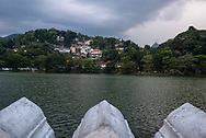 A view of Kandy Lake in the city of Kandy, Sri Lanka (April 1, 2017)