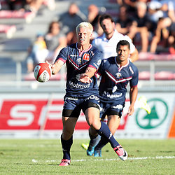 Tian Schoeman of Bordeaux during the test match between Bordeaux Begles and Biarritz at Stade Chaban-Delmas on August 4, 2017 in Bordeaux, France. (Photo by Manuel Blondeau/Icon Sport)