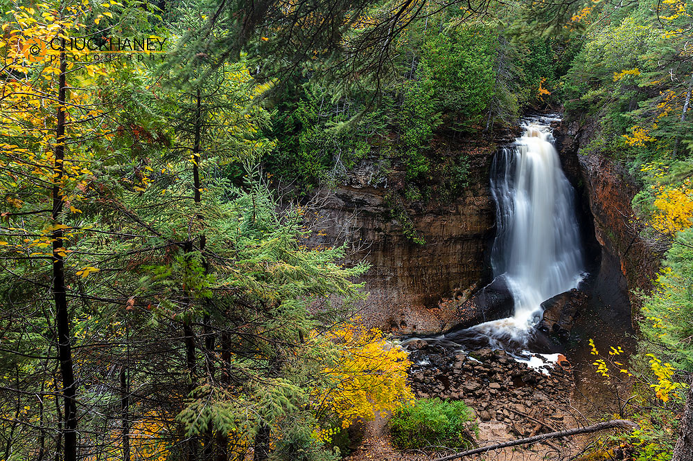 Miners Falls in autumn at Pictured Rocks National Lakeshore, Michigan, USA