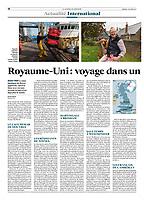 Le JDD newspaper. Story on Brexit, October 2019. Article sur le Brexit dans le Journal Du Dimanche. Texte de Antoine Malo.