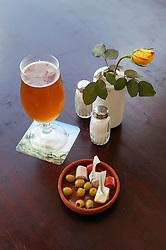 Beer and tapas at Taberna de la Muralla; Plaza Vieja; Havana; Cuba,