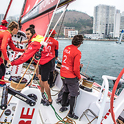 Hong Kong stopover, Around the Island Race on board MAPFRE. Photo by Ugo Fonolla/Volvo Ocean Race. 28 January, 2018.