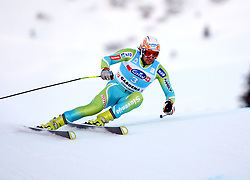 Ales Gorza of Slovenia during the Men's Super-G of the Audi FIS Ski World Cup Val Gardena 2009/10, on Friday, December 18, 2009 in Val Gardena  - Groeden, Italy. The Audi FIS Ski World Cup 2009/10 is taking place in South Tyrol until Monday the 21st of December 2009. (Photo by Pierre Teyssot / Sportida.com)