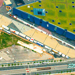 Aerial views of Museum of Natural Sciences of Barcelona Barcelona Spain