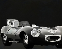 Jaguar Type D 1956 <br /> Like its predecessor Jaguar C-Type, the Jaguar D-Type is a factory-built racing car. The Jaguar D-Type had a straight-XK engine design. At the beginning it was a 3.4 engine, later also a 3.8, together with the C-Type a revolutionary car in terms of aerodynamics and monocoque chassis. The D-Type was produced purely for motorsport, but after Jaguar stopped building the car for motorsport, the company offered the unfinished chassis as the public-road version of the JaguarXKSS. These cars were given a number of modifications such as a passenger seat, a second door, a full windscreen and a roof. But on 12 February 1957 a fire broke out on Browns Lane plant. The fire destroyed nine of 25 cars that were already finished or almost finished. – -<br /> <br /> BUY THIS PRINT AT<br /> <br /> FINE ART AMERICA<br /> ENGLISH<br /> https://janke.pixels.com/featured/jaguar-type-d-1956-b-w-jan-keteleer.html<br /> <br /> WADM / OH MY PRINTS<br /> DUTCH / FRENCH / GERMAN<br /> https://www.werkaandemuur.nl/nl/shopwerk/Jaguar-Type-D-1956-Voorkant-b-amp-w/571927/132