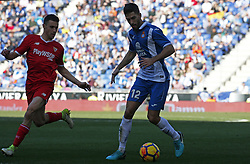 January 20, 2018 - Barcelona, Spain - Didac Vila during the La Liga match between RCD Espanyol and Sevilla FC played in the RCDEstadium, in Barcelona, on January 20, 2018. Photo: Joan Valls/Urbanandsport/Nurphoto  (Credit Image: © Joan Valls/NurPhoto via ZUMA Press)