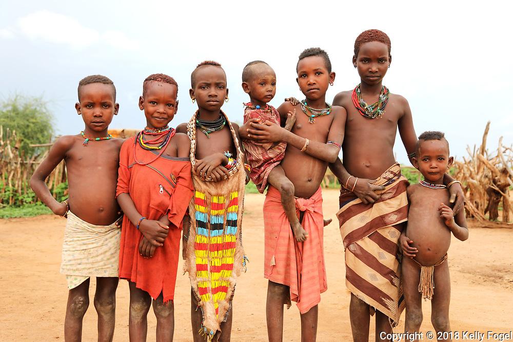 Hamer Tribe, Omo Valley, Southern Ethiopia.  Wegnerki Village in Turmi.