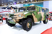 China's Dongfeng automaker's new SUV EQ2050, which looks like US Hummer, is unveiled during Shanghai Motor Show, in Shanghai, China, on April 20, 2009. Shanghai auto show opened Monday for the press and will be open April 24-28 for the public. China is the only major auto market still growing despite the global economic slowdown. U.S. and global auto makers see China as the place where they can find the sales they desperately lack in their home market. Chinese automakers see the opportunity to assess themselves as major players in the world market. Photo by Lucas Schifres/Pictobank