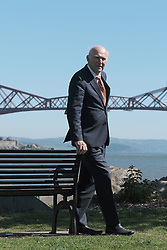 In front of the iconic Forth Rail Bridge, Liberal Democrat leader Vince Cable, former Change UK lead candidate David MacDonald, Lib Dem European election candidates and party activists unveiled a new election poster calling on Remain voters to unite to stop Brexit.<br /> <br /> Pictured: Sir Vince Cable MP<br /> <br /> Alex Todd | Edinburgh Elite media