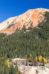 Silver mine in Ouray Colorado.  The first settlers of these mountains were miners.  Throughout these beautiful mountains there are old mines, ugly mining tailings and left over debris from minings history.  They also left beautiful and cool looking towns in all of its valleys.
