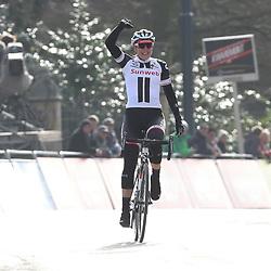 25-02-2017: Wielrennen: Omloop Het Nieuwsblad: Gent  <br /> GENT (BEL) wielrennen  <br /> Lucinda Brand heeft de Omloop Het Nieuwsblad voor vrouwen gewonnen. De renster van Sunweb reed in de finale weg uit een kopgroep van zes, nadat eerder haar ploeggenote Ellen van Dijk de koers hard had gemaakt.