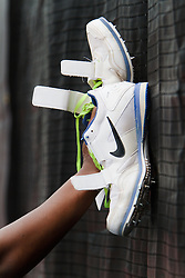 Samsung Diamond League adidas Grand Prix track & field; Womens Triple Jump, Erica McLain (?) USA, Nike shoes