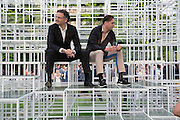 ALI RAHIM; PATRICK SCHUMACHER, The Serpentine Summer Party 2013 hosted by Julia Peyton-Jones and L'Wren Scott.  Pavion designed by Japanese architect Sou Fujimoto. Serpentine Gallery. 26 June 2013. ,