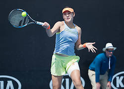 MELBOURNE, Jan. 15, 2018  Duan Yingying of China returns the ball during a match against Mariana Duque-Marino of Colombia at the women's singles first round of Australian Open 2018 in Melbourne, Australia, Jan. 15, 2018. Duan Yingying won 2-0. (Credit Image: © Zhu Hongye/Xinhua via ZUMA Wire)