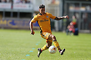 Reece Grego-Cox of Newport county in action.  EFL Skybet football league two match, Newport county v Cheltenham Town at Rodney Parade in Newport, South Wales on Saturday 10th September 2016.<br /> pic by Andrew Orchard, Andrew Orchard sports photography.