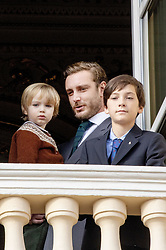 November 19, 2019, Monaco, Monaco: 19-11-2019 Monte Carlo Royal princely family during the Monaco national day celebrations in Monaco. Pierre Casiraghi (R), his son Francesco  (Credit Image: © face to face via ZUMA Press)