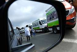 ALEXANDRA SOUTH AFRICA - APRIL 25: NHLS Mobile Labs during intensified testing and screening on Freedom Day, screening and testing includes people over over 60, flu-like symptoms, comorbid conditions, like diabetes, asthma, hypertencsion, HIV and tuberculosis on April 25, 2020 in Alexandra South Africa. Under pressure from a global pandemic. President Ramaphosa declared a 21 day national lockdown extended by another two weeks, mobilising goverment structures accross the nation to combat the rapidly spreading COVID-19 virus - the lockdown requires businesses to close and the public to stay at home during this period, unless part of approved essential services. (Photo by Dino Lloyd)