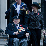 London November 11th Three of the last four survivors of the Great War, with a combined age of 330, joined forces at The Cenotaph to mark the exact moment when the guns fell silen The trio was led by Henry Allingham, Britain's oldest man at 112, an aircraft mechanic who saw action at sea, in the Battle of Jutland, and ashore on the Western Front..Then there was Harry Patch, 110, a veteran of the horrors of Passchendaele, who is the only survivor of the trenches and Bill Stone, a relative junior at the age of 108, who ended up fighting two World Wars for the Royal Navy....Please telephone : +44 (0)845 0506211 for usage fees .***Licence Fee's Apply To All Image Use***.IMMEDIATE CONFIRMATION OF USAGE REQUIRED.*Unbylined uses will incur an additional discretionary fee!*.XianPix Pictures  Agency  tel +44 (0) 845 050 6211 e-mail sales@xianpix.com www.xianpix.com