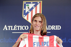 26.07.2010, Estadio Santiago Bernabeu, Madrid, ESP, Atletico de Madrid new Player Filipe Luis, im Bild Atletico de Madrid's new player Filipe Luis during official presentation. EXPA Pictures © 2010, PhotoCredit: EXPA/ Alterphotos/ +++++ ATTENTION - OUT OF SPAIN +++++ / SPORTIDA PHOTO AGENCY