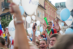 during the Day for the medals: Reception of Slovenian sport heroes on 30.9.2019 on Kongresni square, Ljubljana, Slovenia. Photo by Urban Meglič / Sportida