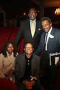 l to r: Debi Jackson, Hal Jackson, Kwame Brathwaite and Lloyd Williams at the Apollo Theater 75th Birthday Celebration Press Conference announcing its special anniversary programming across Harlem, New York, and the Nation.