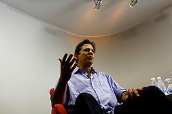 May 5, 2018 - SãO Paulo, Brazil - SÃO PAULO, SP - 05.05.2018: FERNANDO HADDAD PALESTRA EM SP - The former mayor of the city of São Paulo, Fernando Haddad (PT), lectured on an event about Marx 200 - Economy and History, at the Saber house in the Jardins region, south of the capital of São Paulo, this Saturday morning. (Credit Image: © Aloisio Mauricio/Fotoarena via ZUMA Press)
