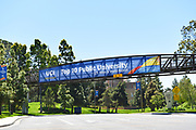 Banner on a Footbridge on Campus of the University of California Irvine
