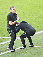 Football - 2020 / 2021 Sky Bet Championship - Swansea City vs Bristol City - Liberty Stadium<br /> <br /> Nigel Pearson, taking charge of his first game as Bristol City manager  looks tense in the final minutes of the match<br /> <br /> <br /> COLORSPORT/WINSTON BYNORTH