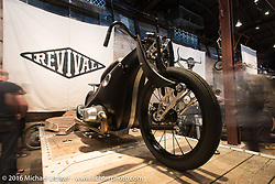 Revival Cycles BMW Landspeeder on Saturday in the Handbuilt Motorcycle Show. Austin, TX, USA. April 9, 2016.  Photography ©2016 Michael Lichter.