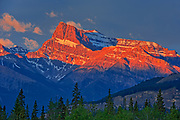 Canadian Rocky Mountains  at sunrise.<br />