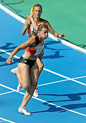 31.07.2010, Olympic Stadium, Barcelona, ESP, European Athletics Championships Barcelona 2010, im Bild Olivia Borlee and Hanna Marien BEL. GER EXPA Pictures © 2010, PhotoCredit: EXPA/ nph/ . Ronald Hoogendoorn+++++ ATTENTION - OUT OF GER +++++